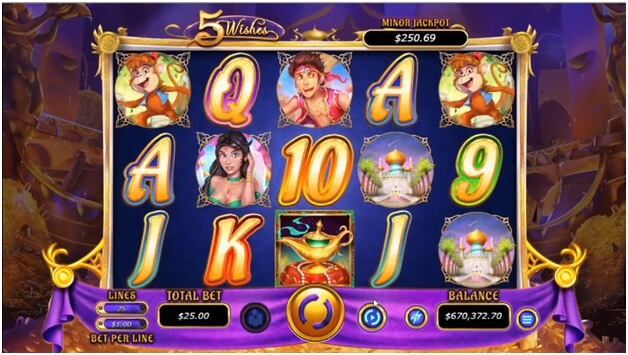 5 Wishes Slot- Game Facts