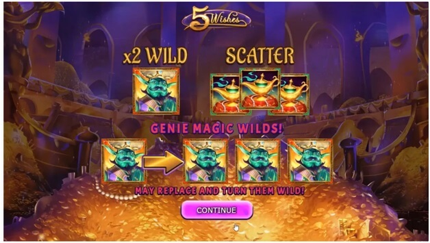 5 Wishes slot game features