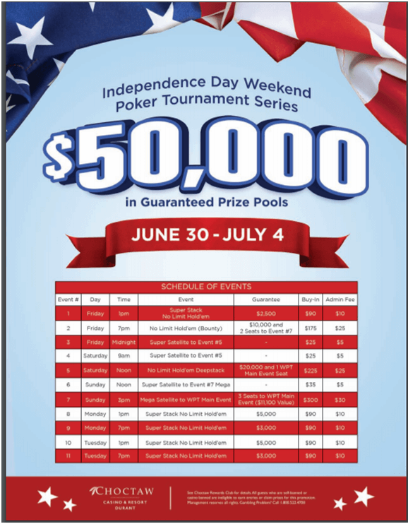 Independence Day Poker Tournament