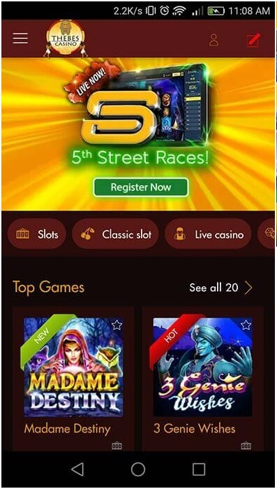5th street races at online casinos
