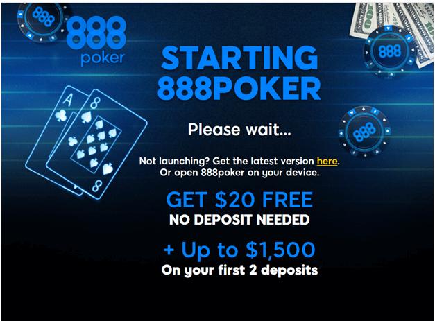 888 poker welcome bonus