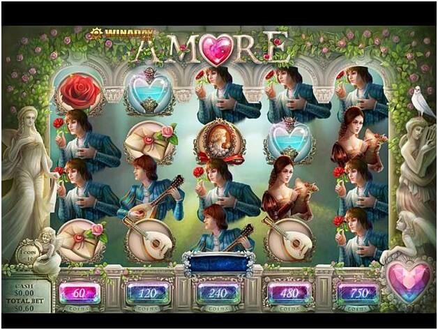 Amore slot game symbols