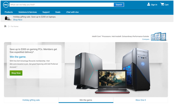 Offers at Dell
