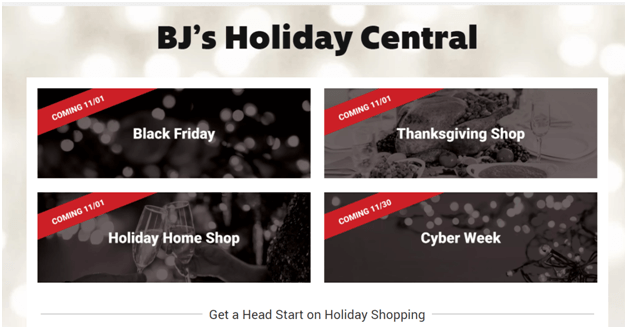 Black Friday deals at BJ's