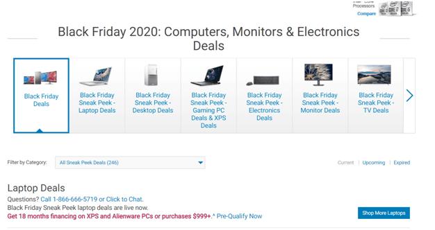 Black Friday deals at Dell