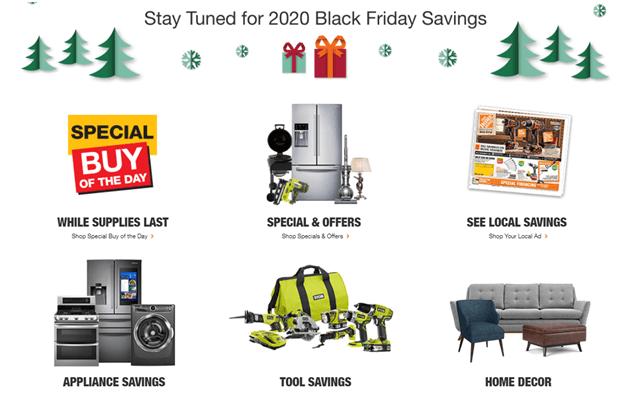 Black Friday deals at Home Depot