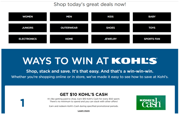 Black Friday deals at Kohl's