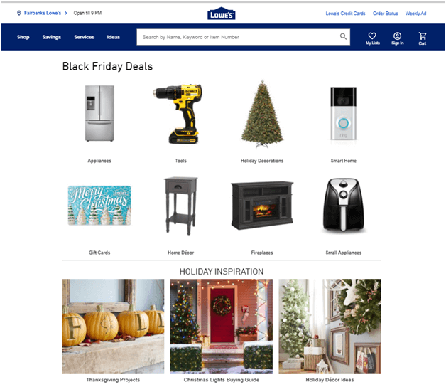 Black Friday deals at Lowe's