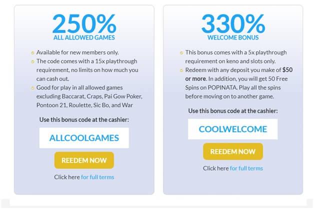 Bonus Codes At Cool Cat Casino For US Punters