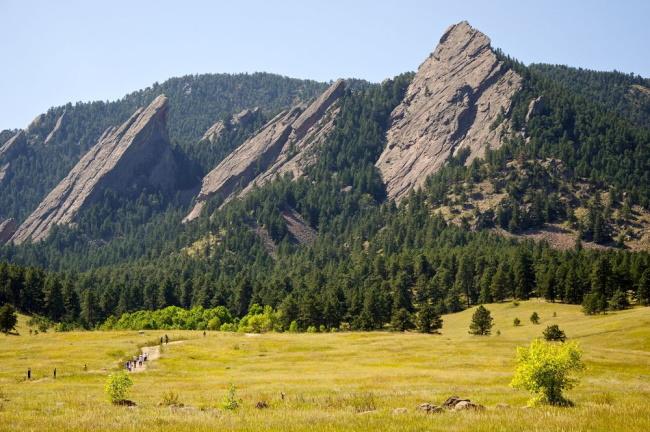 Boulder the Flatirons