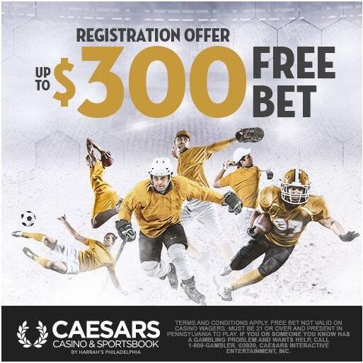 Caesars Casino online- Sports free bet
