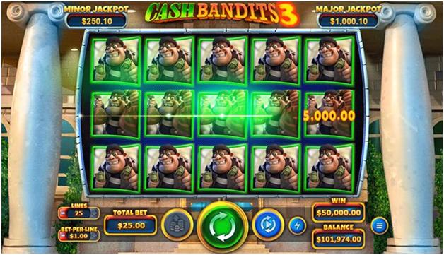 Cash bandit 3- Features