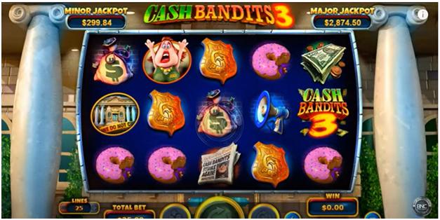 Cash bandit 3- Game Symbols