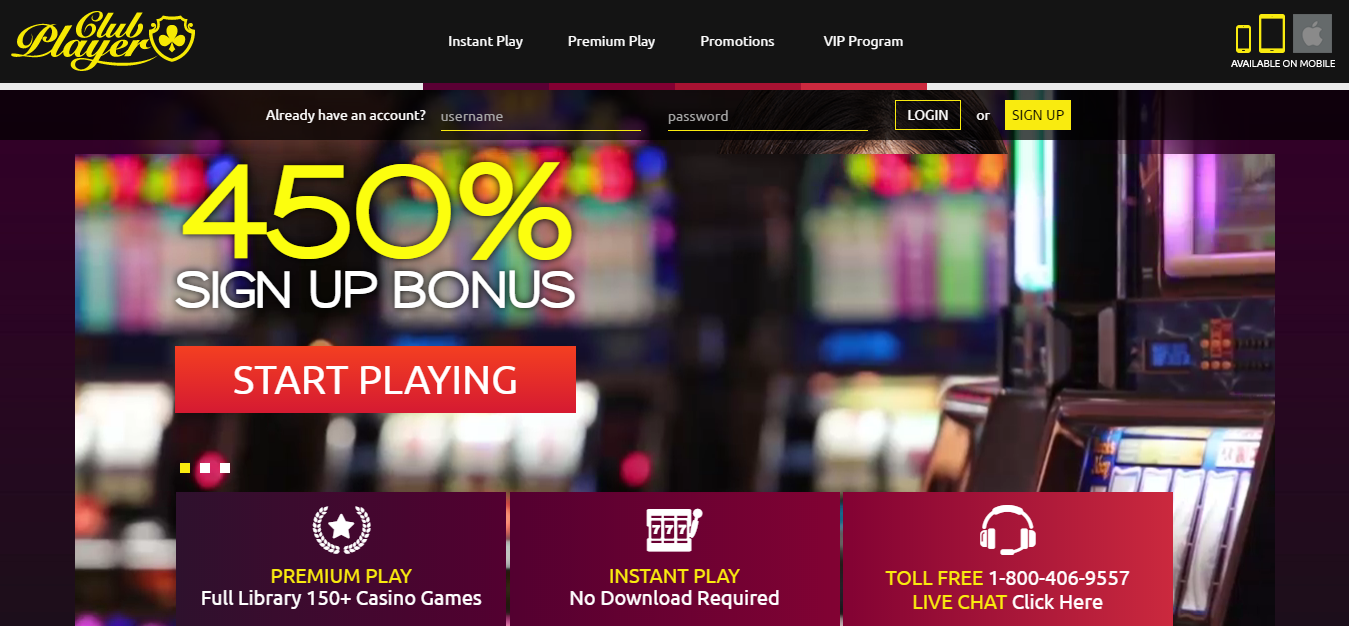 club player casino bonuses