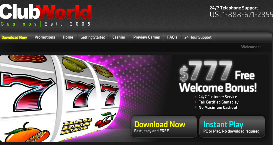 club world casino coupon codes