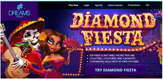 Coupon code Diamond Fiesta slot- Dreams