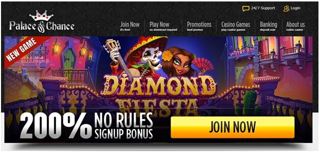Coupon code Diamond Fiesta slot- Palace of Chance