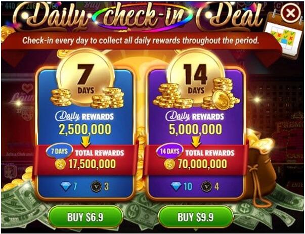 Daily Bonus in Vegas live slots game app