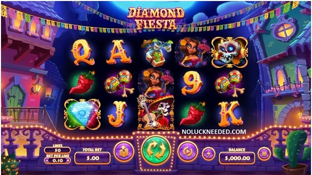 Diamond Fiesta Slot game coupons