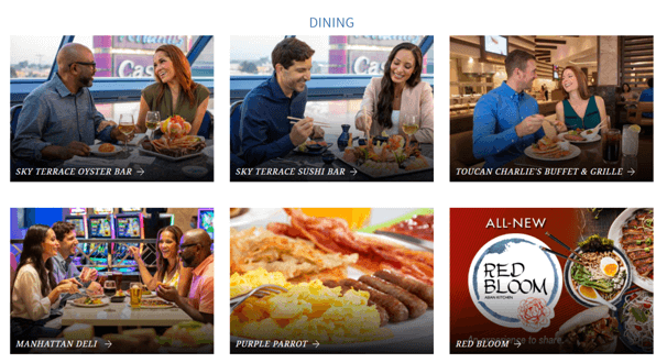 Dining at Atlantis Casino