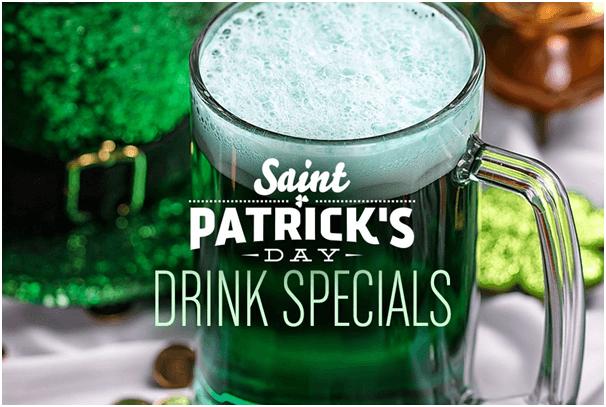 Drink specials on St Patricks day