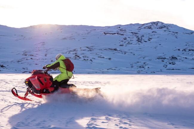 Enjoy Snowmobile Shuttle in the Backcountry