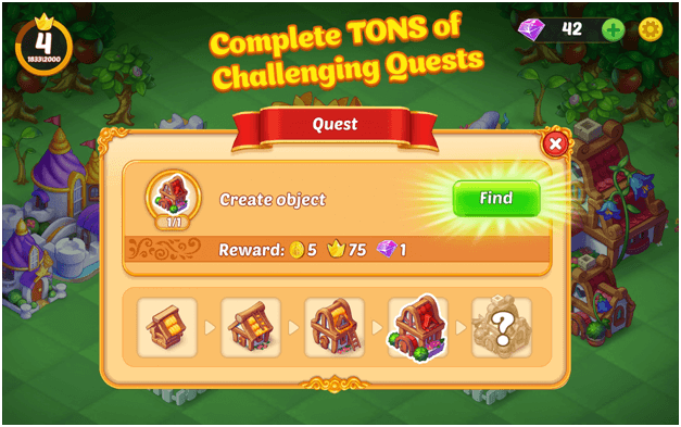 EverMerge Quests completion also rewards coins