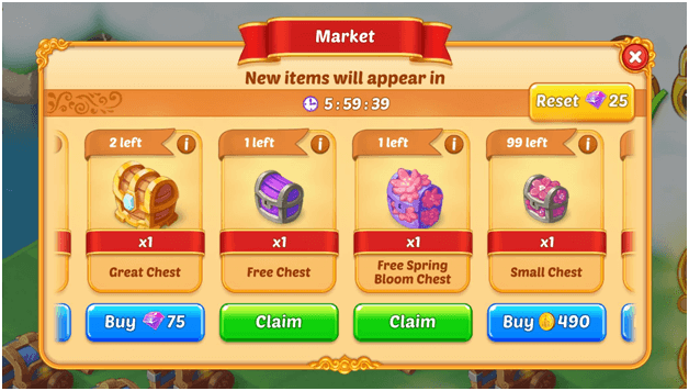 EverMerge Market offers free chests