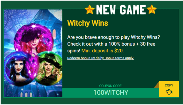 Fair Go coupon codes for Witchy Wins