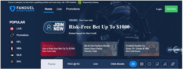 Fan duel sports bookie offers free bet
