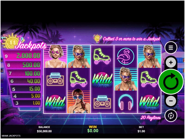 Features in Miami Jackpot slots