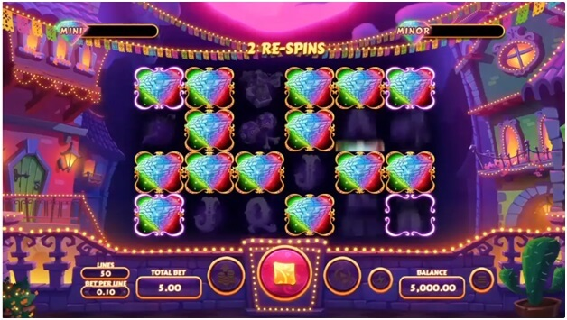 Features of Diamond Fiesta- respins