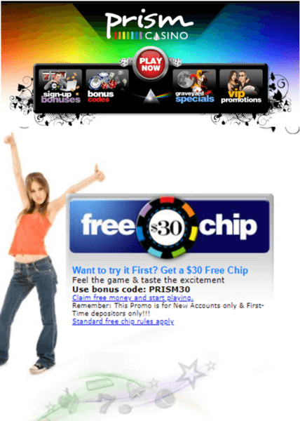 Free Chip for table games at online casinos