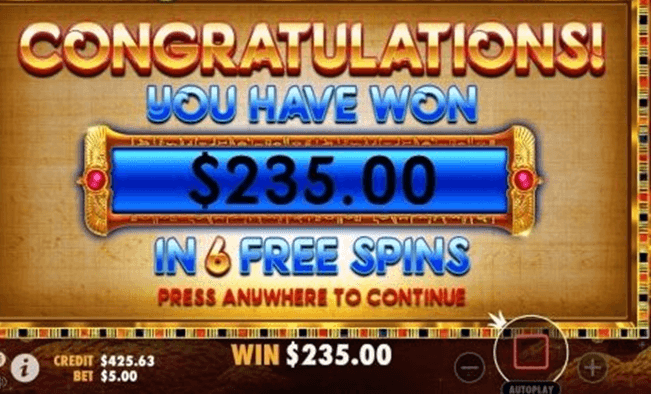 Free spin wins