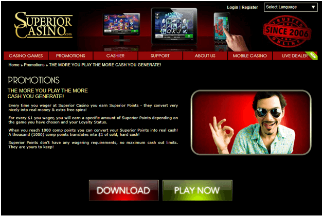 Free Spins Bonus Superior Casino