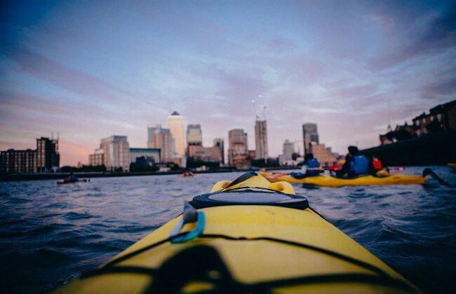 Go night kayaking, London, England