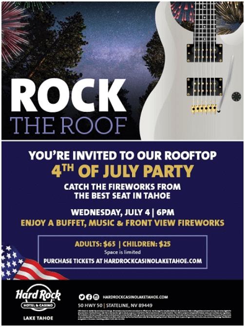 Hard Rock casino 4th July