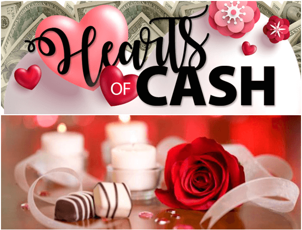 Hearts of Cash game for Valentine day 2019