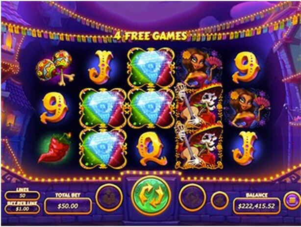 How to play Diamond Fiesta slot- four free games