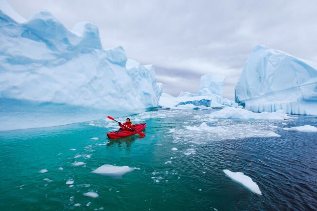 Kayak to Incredible Icebergs