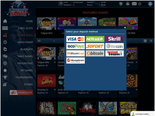 Liberty slots casino - Banking