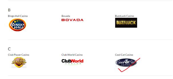 List of Casinos