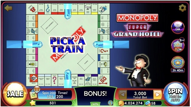 Monopoly slots app features