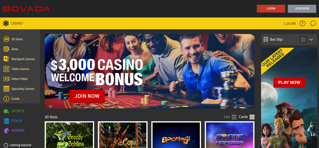 online casino games us players