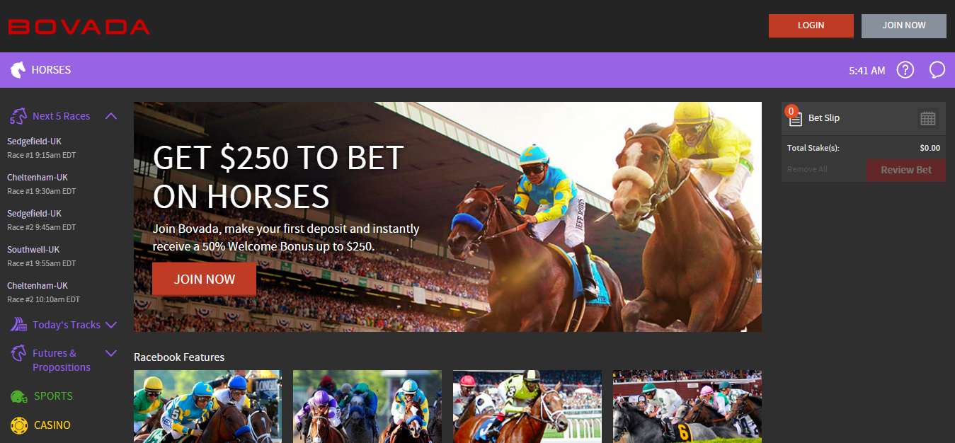 online horse racing betting game