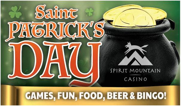 Patrick's Day at Spirit Mountain Casino
