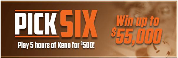 Pick Six Keno