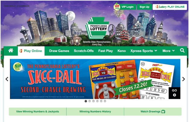 Play US Lotteries online