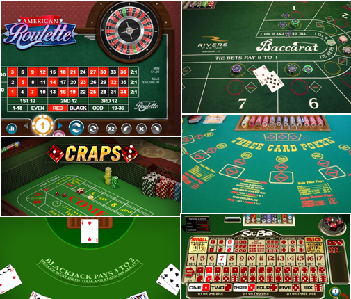 Popular Table Games at online casinos