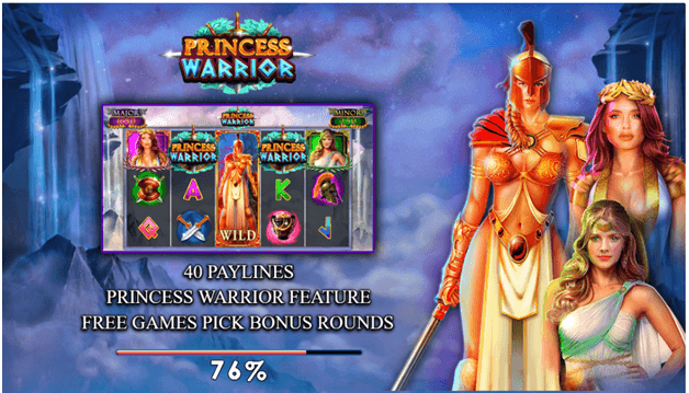 Princess Warrior slot game - How to play